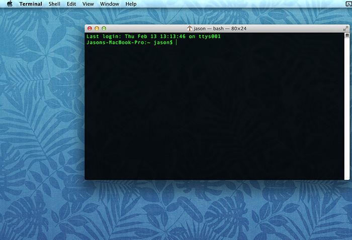 Photo of command line interface