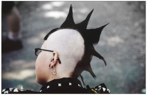 Girl with a mohawk