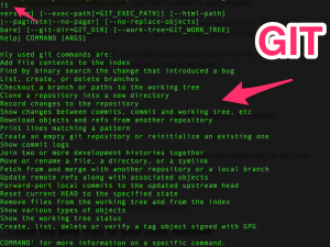 Git screenshot